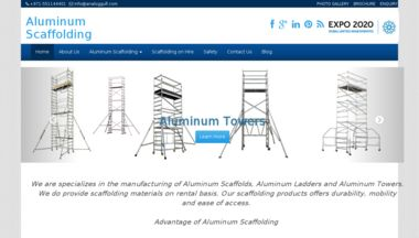 Aluminum Scaffolding is a Dubai Based Scaffolding company. We deal into Aluminum Scaffolding Tower, Aluminum Ladder, Aluminum Bridge. We do sale and rental for Aluminum Scaffolding Products in Dubai, UAE, Qatar, Oman, Iraq, Kuwait, Bahrain and Saudi Arabia.