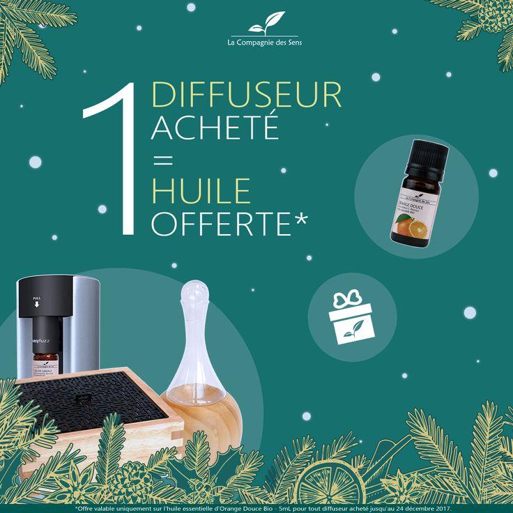 Découvrez les 10 meilleurs diffuseurs de la Compagnie des Sens ! Pour tout achat d'un diffuseur, 1 huile essentielle d'Orange Douce offerte :-)