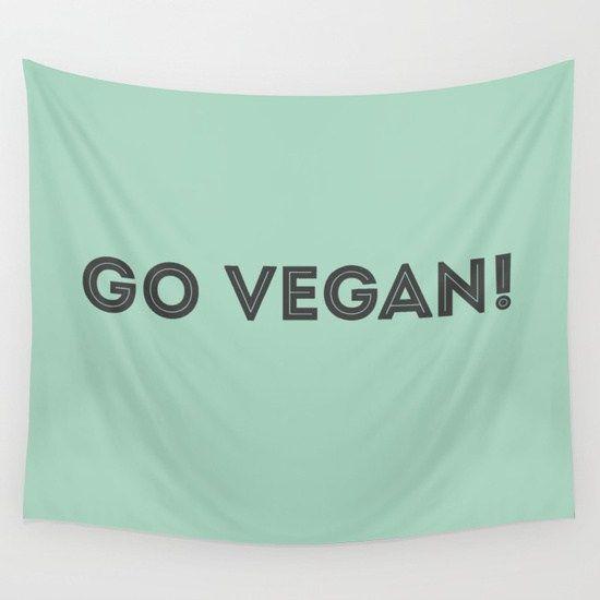 GO VEGAN feliratos fali zászló, molinó vagy demonstrációs lepedő – VegaNinja Webshop