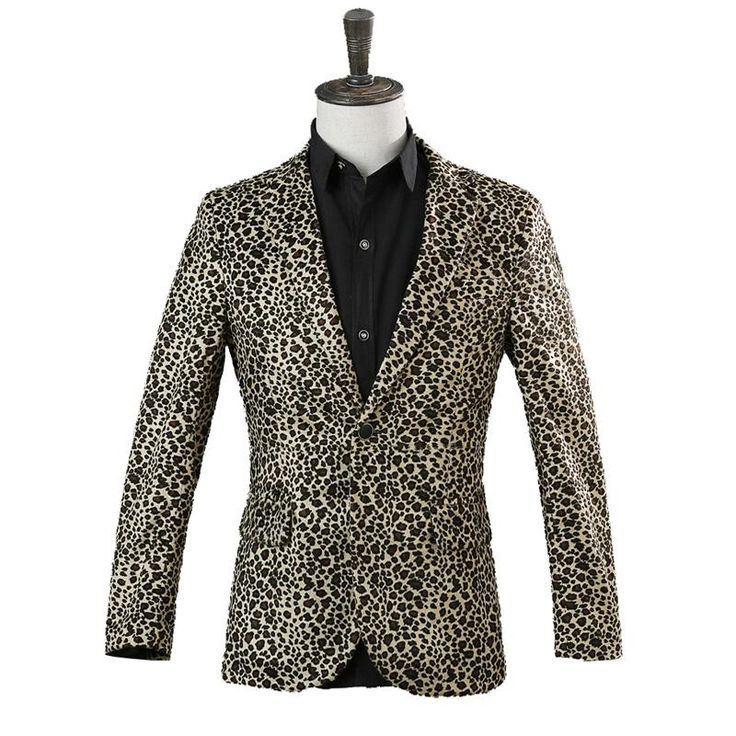 S-3XXL!!! 2018  The leopard print suit men's top DJ singer nightclub stage costume moderated the suit jacket bar show gown