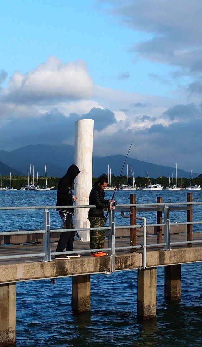 Fishing from the Marina