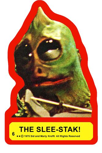 Sleestak Sticker from The Land of the Lost.  I had one on my bedroom door, growing up. :)