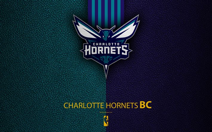 Download wallpapers Charlotte Hornets, 4K, logo, basketball club, NBA, basketball, emblem, leather texture, National Basketball Association, Charlotte, North Carolina, USA, Southeast Division, Eastern Conference