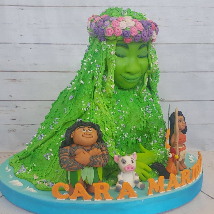 TE FITI CAKE with handmolded characters moana, maui, pig and chicken So much time and love went into carving and crafting this cake.  #moanacakecebu #tefiticakecebu #moana #tefiti #cebucake #cebucakes #birthdaycakecebu #cebubirthdaycake - thechocolateleaf