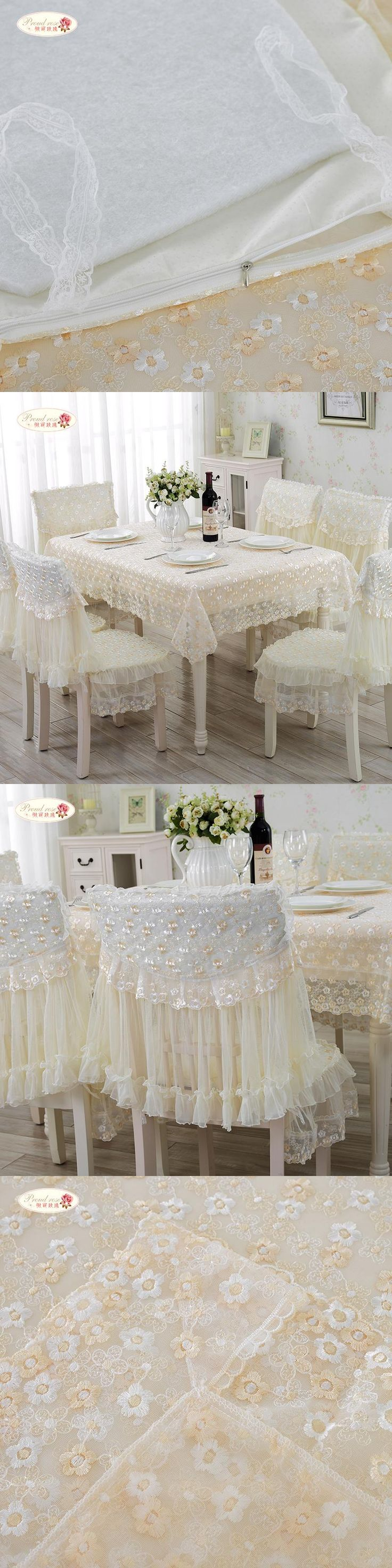 Proud Rose European Rural Lace Table Cloth Lace Tablecloth Chair Cover  Modern Household Adornment Tablecloth Chair