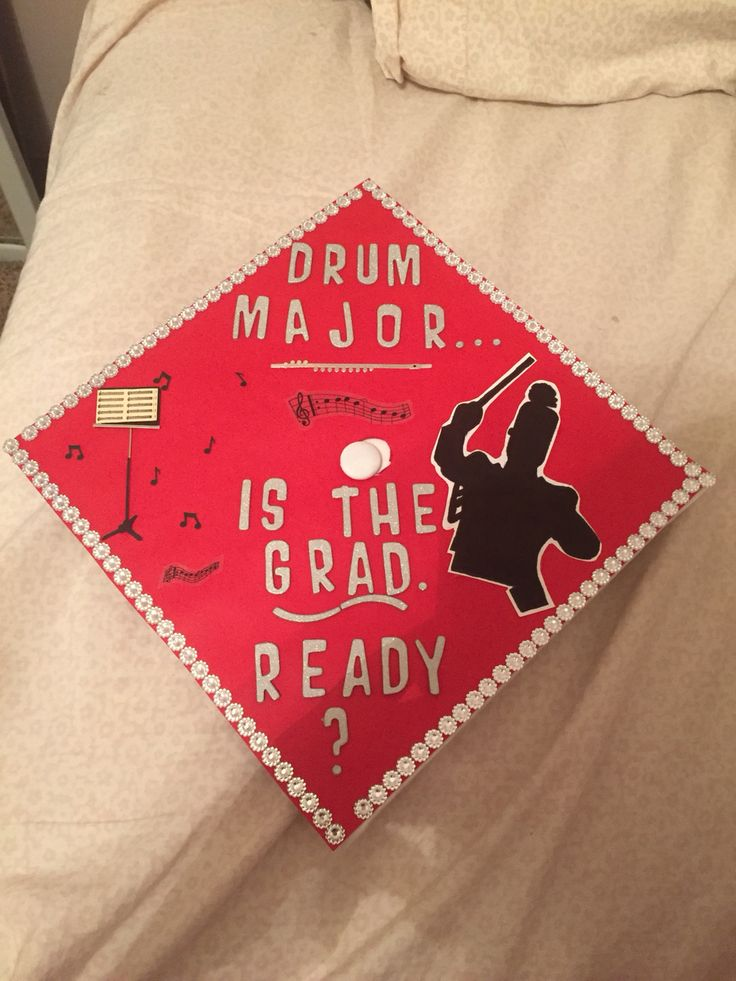 My graduation cap. I was the drum major at my high school.