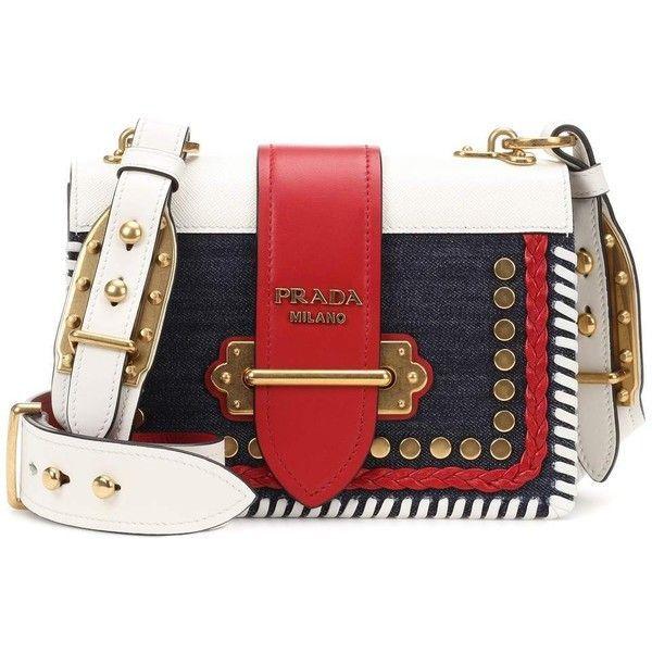 17c979a2bc5a Prada Cahier Denim and Leather Shoulder Bag ( 3
