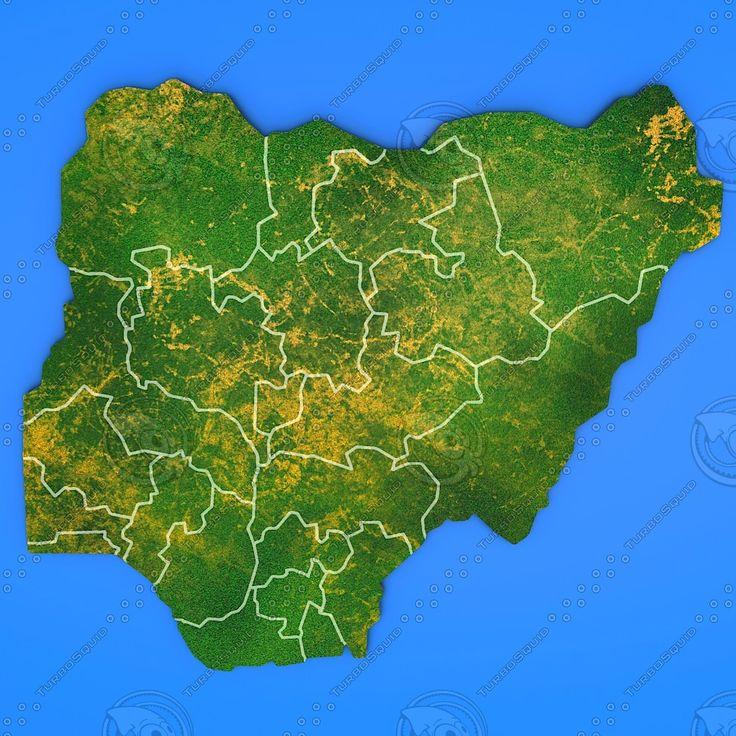 3D Model Nigeria Country - 3D Model