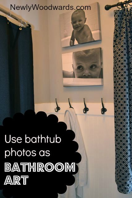 Yes you can hang photographs in the bathroom - make custom canvases with your kids in the bathtub!