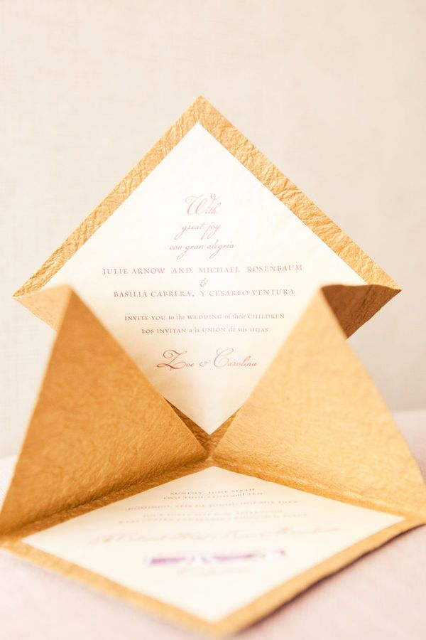 Origami invitation. Love. Looks cute and easy to DIY!