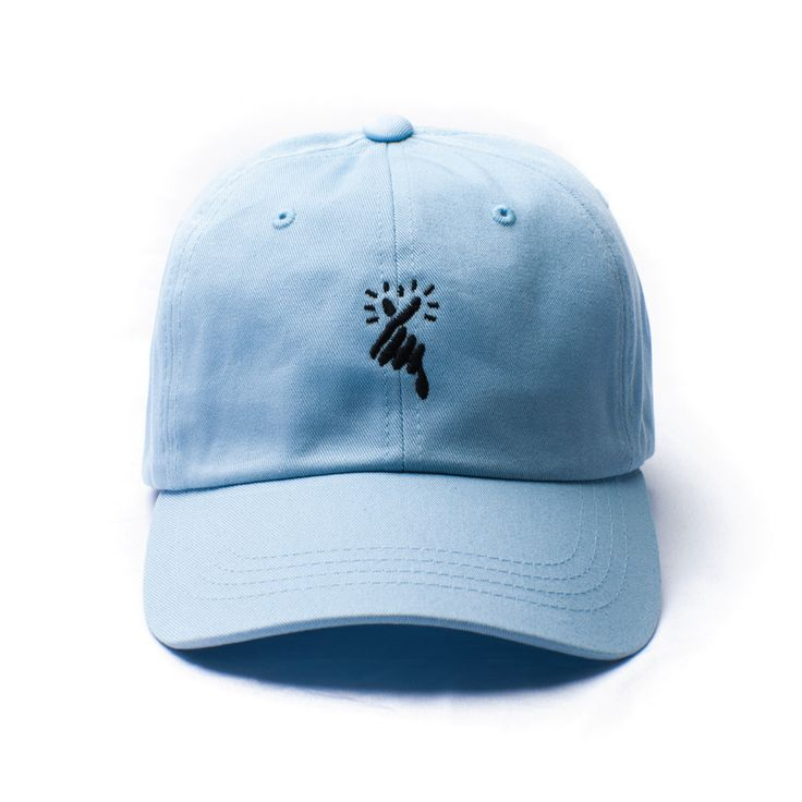HEART x Pastel Blue Low Profile Hat