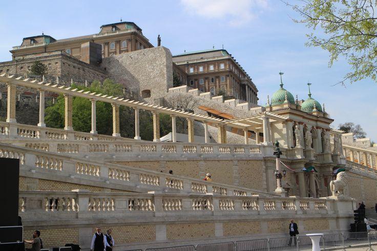 The renewed castle Bazaar in Buda