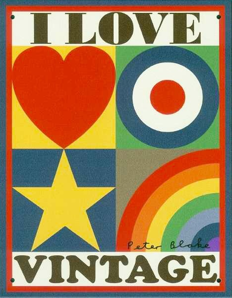 Love vintage? Yeah, we do too....make a statement with this fab limited edition tin plate designed by Sir Peter Blake