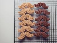 Movember Cookies, for the 'stache party