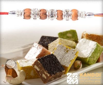 Rakhi with Dry Fruit Bites - send rakhi to india