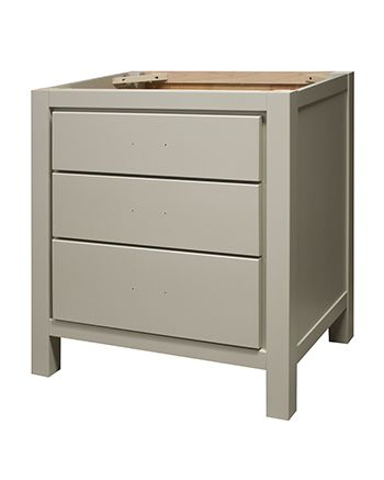 "Item#:TW3021-?-MT-  Ovation 30""  Table Vanity 2 Drawer  TEST TEST R&D R&D No Door door style shown in Maple wood with Taupe Gray color."