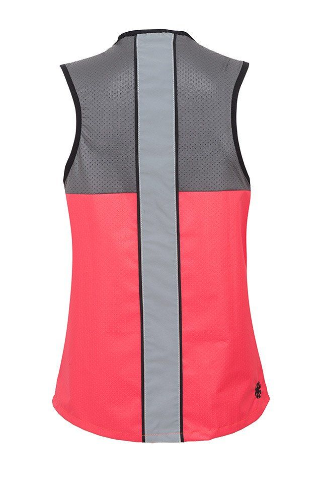 Back of reflective high vis cycling vest by As Bold As