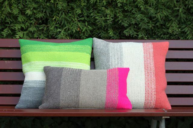 Tunisian Simple Stitch Pillows