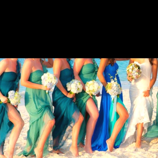 1000 images about wedding colors on pinterest deep for Colored beach wedding dresses