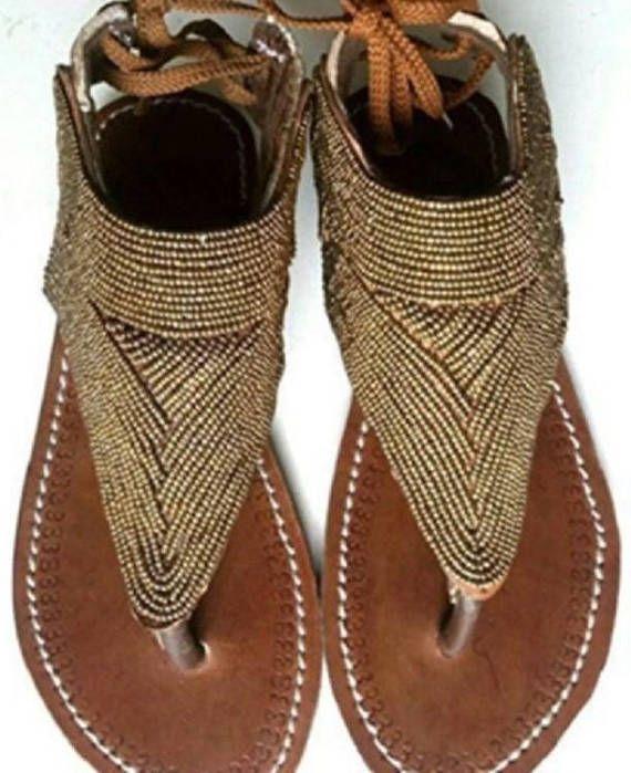 Sandalias de cuero hecho a mano africano 19bafceedef
