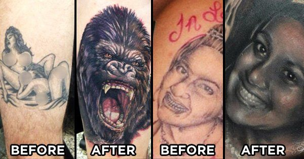 From horrible to beautiful, these cover-up tattoos and tattoo repairs just saved these people's skin!