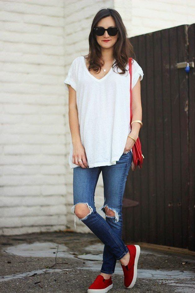 I'm so glad that white v necks have inexplicably become cute again because I have more than i can count.