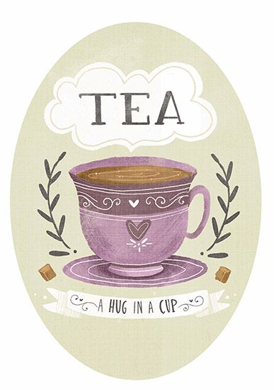 This Is A Whimsical Hand Lettered Illustration Inspired By Tea And Love TeaLove