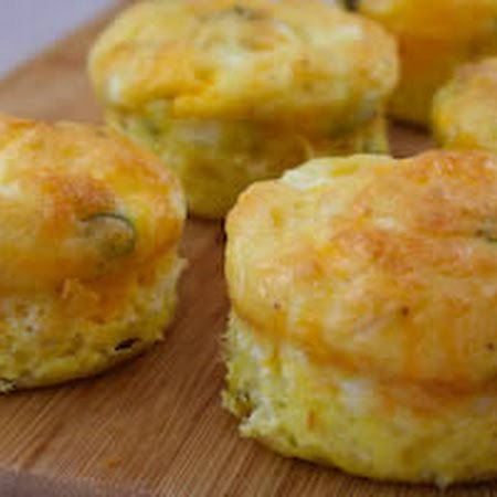 Egg Muffins - Mix meat, veggies & cheese together in muffin pan. Pour egg into each muffin. Bake 25-35 minutes at 375 degrees. Muffins will keep at least a week in the fridge without freezing. Microwave on high about 2 minutes to reheat.