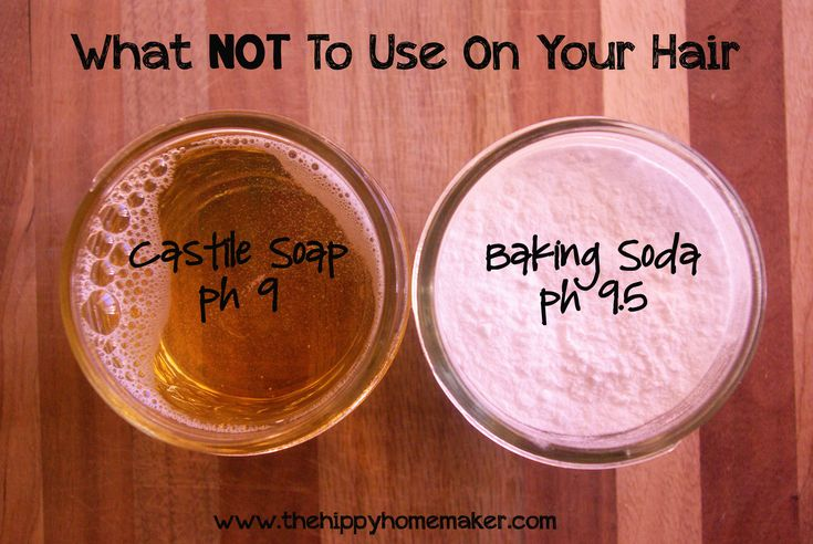 What NOT to use on your hair when doing no-poo/shampoo alternatives - pH balance is important!