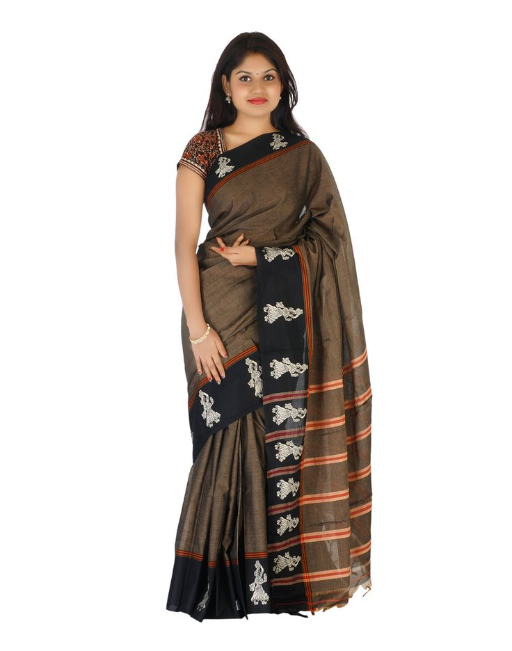Beautiful Mercerised Handloom Cotton Saree