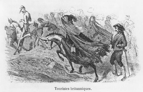 British Tourists, Illustration From 'voyage Aux Pyrenees' By Hippolyte Taine (1828-93) Engraved By Emile Deschamps (19th Century) Giclee Print Poster by Gustave Dore Online On Sale at Wall Art Store – Posters-Print.com