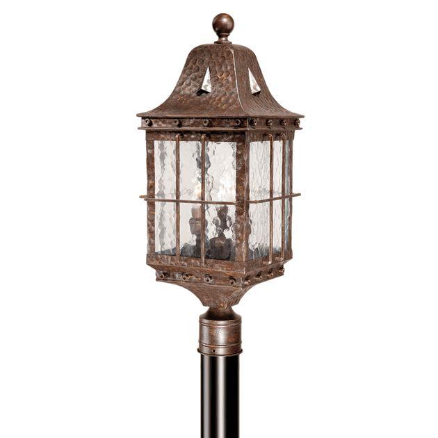 Savannah Outdoor Pole Light - Colonial Iron