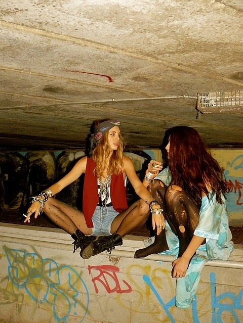 grunge and wild and young and free