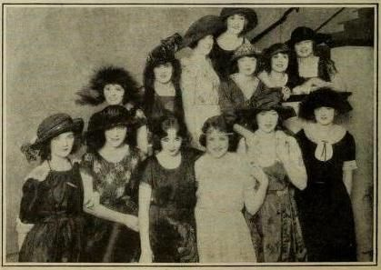Wampus Baby Stars of 1922 - Left to right, lower row: Mary Philbin, Patsy Ruth Miller, Bessie Love, Louise Lorraine, Helen Ferguson and Kathylyn McGuire.  Upper row: Pauline Starke, Marion Aye, Jacqueline Logan, Claire Windsor, Colleen Moore, Lila Lee, Lois Wilson.