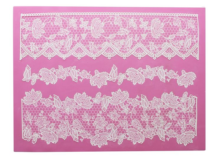 Lace wonderful floristry onto your cupcakes and cakes with the Eternity 3D Cake Lace Mat!