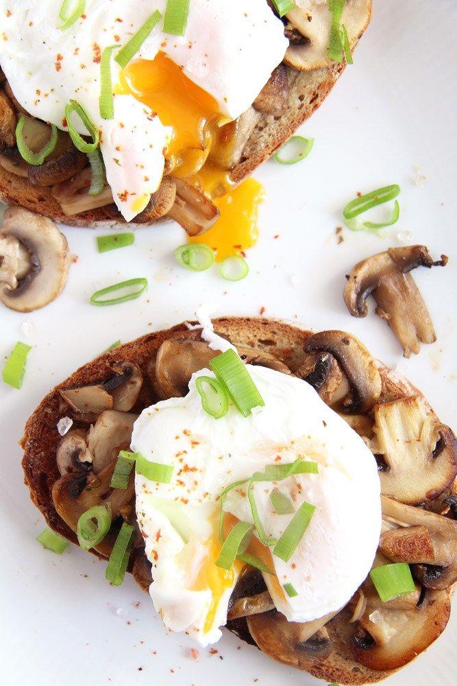 mushroom toast Mushroom Garlic Sourdough Toast with Poached Eggs