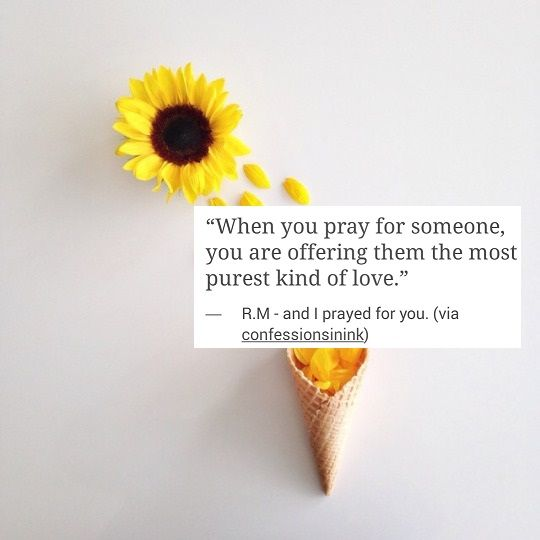 when you pray for someone