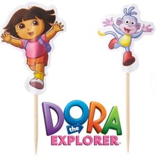 Versier je cupcakes of andere traktaties met deze vrolijke Dora cocktail prikkers van Wilton. Ook leuk in combinatie met de Wilton baking cups Dora!