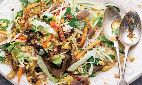 I've been hungry for Bun salad, and Ottolenghi's recipes are so good...