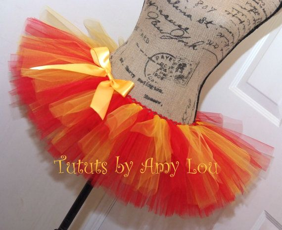 BASIC 2 Color Wave Pattern Tutu in Red and Yellow. The two colors seem to flow together like beautiful music. This pattern is ideal for the