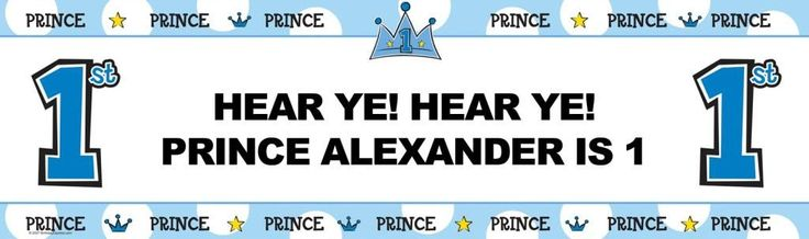 Lil' Prince 1st Personalized Birthday Banner