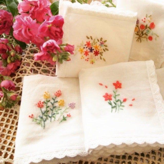 #Embroidery#stitch#프랑스자수#자수#일산프랑스자수#손수건.. 행주..