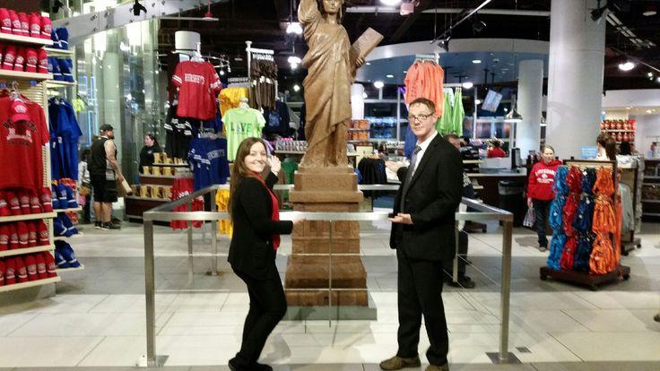 Chocolate statue of liberty!