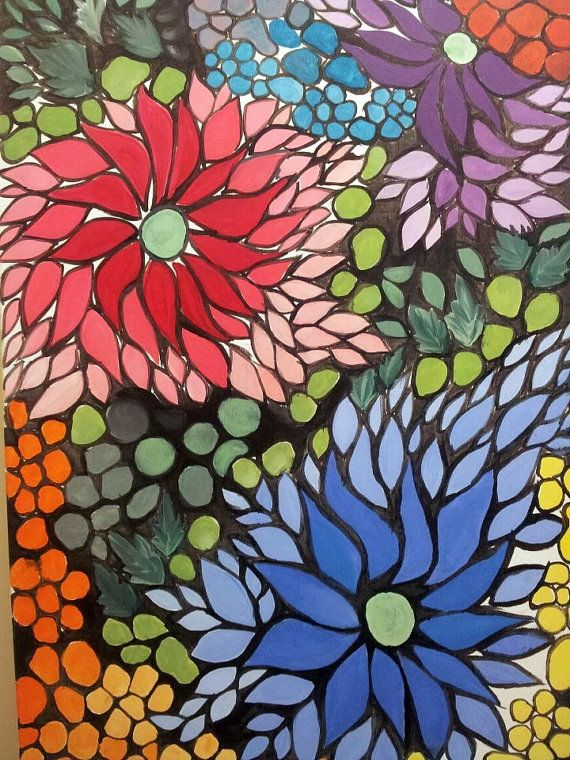 Floral Mosaic Art Pinterest