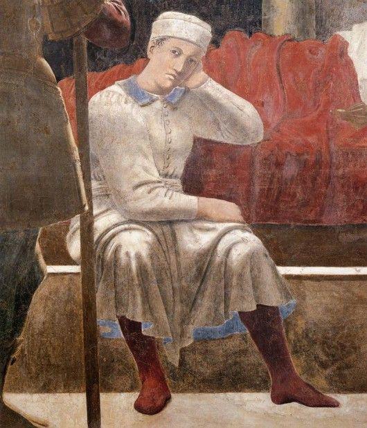 Piero della Francesca, Le songe de Constantin, Arezzo, détail