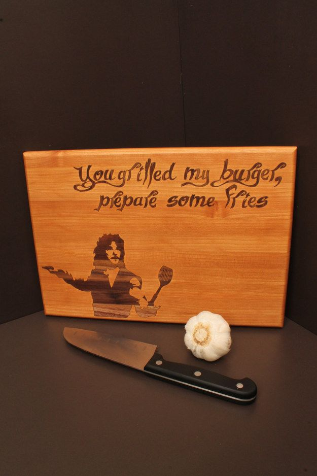 """This pun-tastic cutting board. 