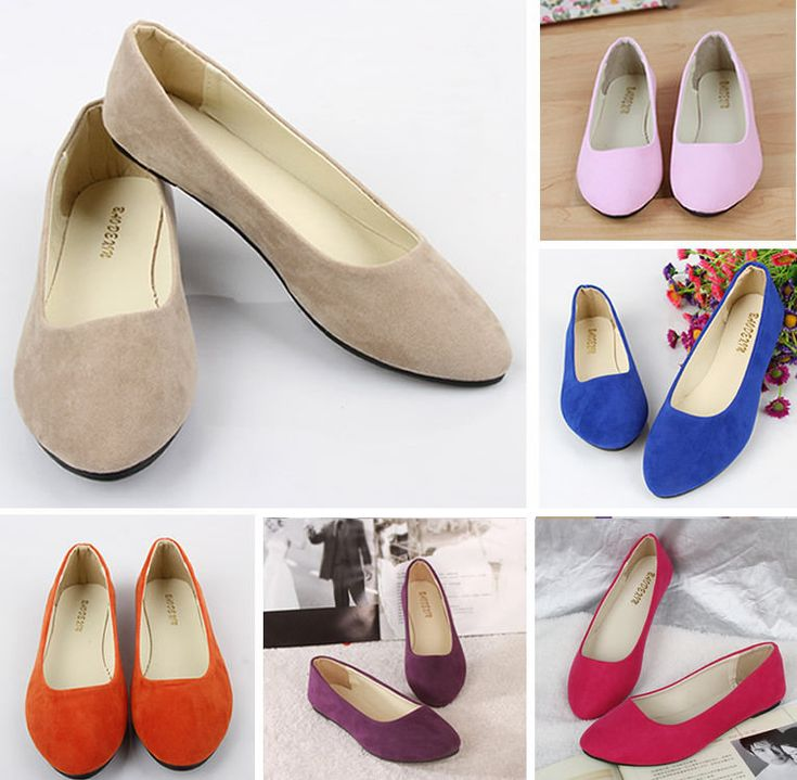 Women Shoes Ballet Flats Plus Size 43 Casual Low Heel Sapatos Womens Loafers