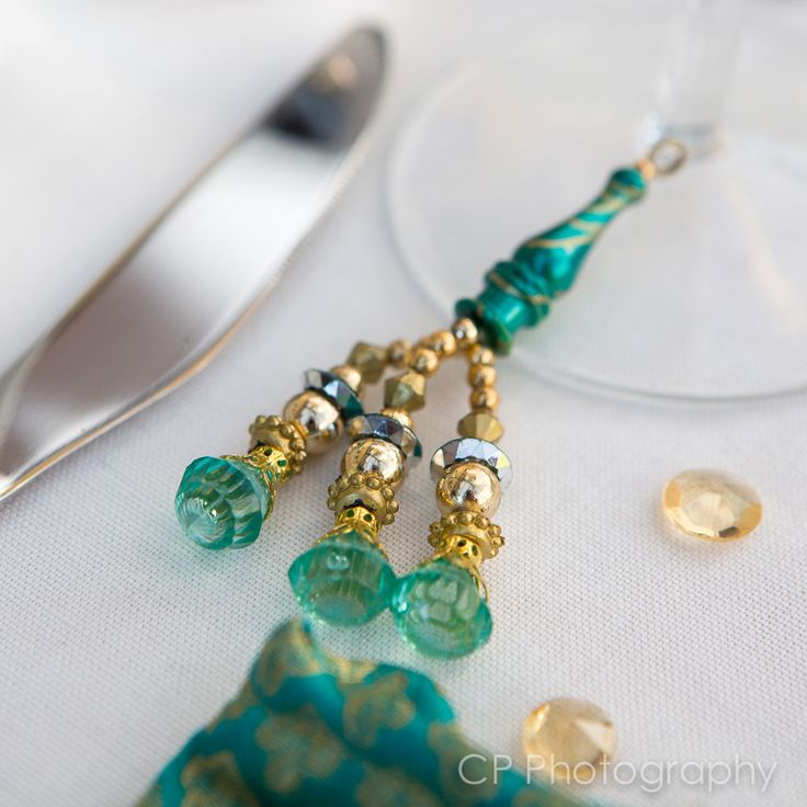 Gorgeous Asian drink charm which adds colour and decor to any celebration by www.fuschiadesigns.co.uk.