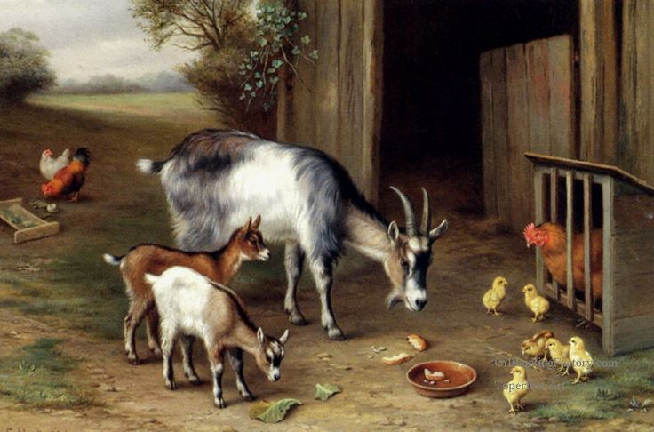 ART~ The Latecomers~ Farm Animals ~ by Edgar Hunt ♥•.¸¸.•´¯`•.♥                                                                                                                                                                                 Más