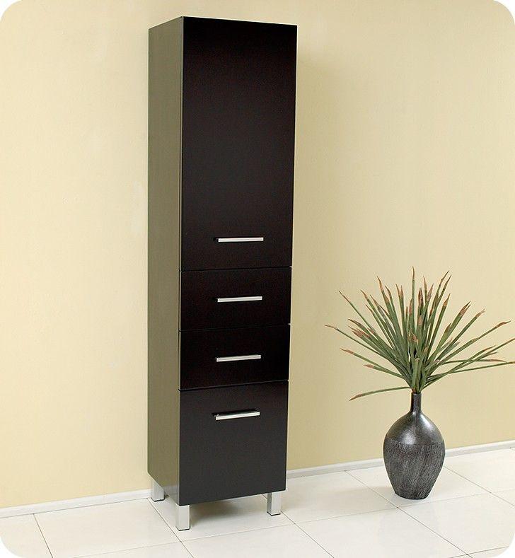 modern bathroom linen cabinets. Fresca Espresso Bathroom Linen Side Cabinet FST1002ES Modern Cabinets
